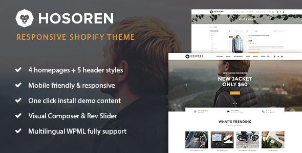 Hosoren – Responsive Shopify Theme (Shopify) Download