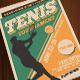 Tenis Tournament Vintage Style