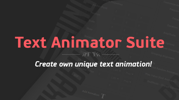 Text Animator Suite | After Effects Script