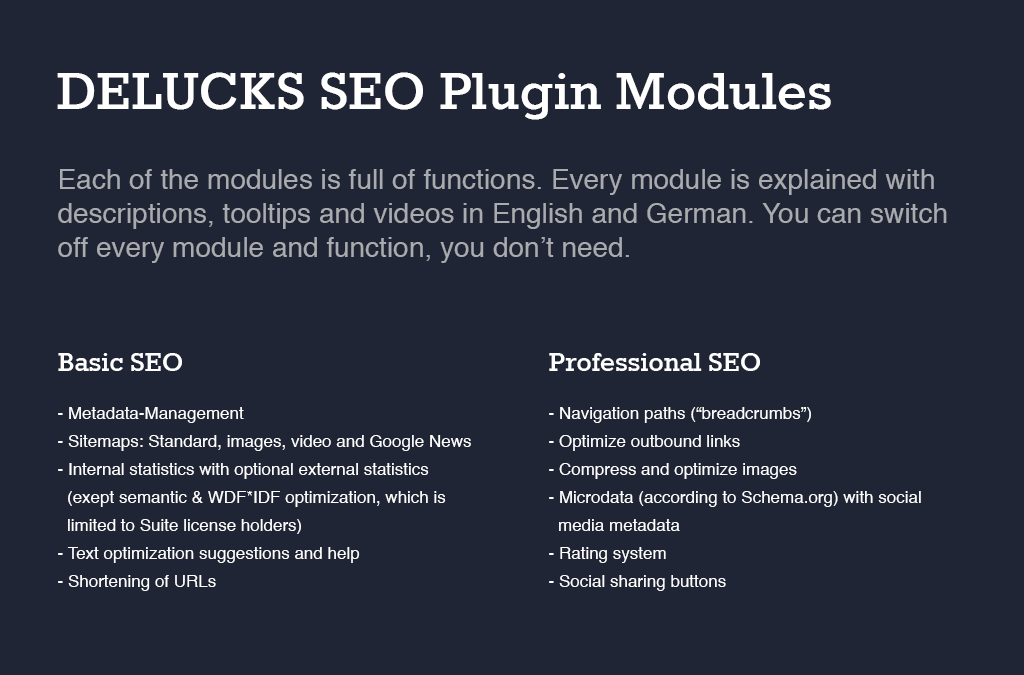 DELUCKS SEO Plugin for Wordpress