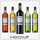 Wine Bottle Photorealistic Packaging Mock-Up