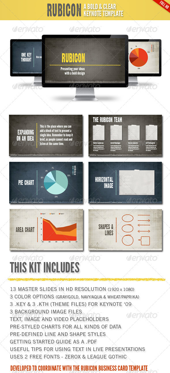 Rubicon Keynote Presentation Template - Business Keynote Templates