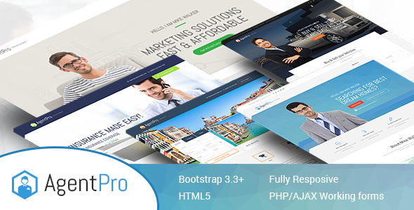 Agentpro – Exclusive Agents/Agency Landing Page HTML Template (Marketing) Download