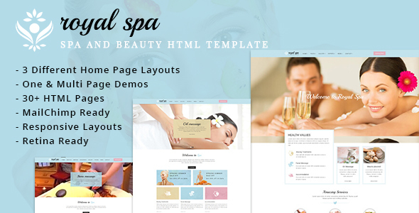 RoyalSpa – Spa and Beauty HTML Template (Health & Beauty) Download