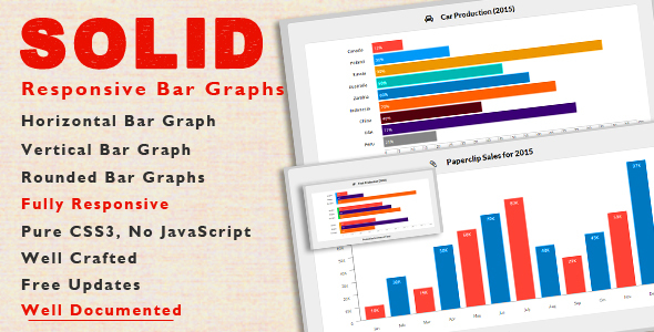 Download SOLID - CSS3 Responsive Bar Graphs