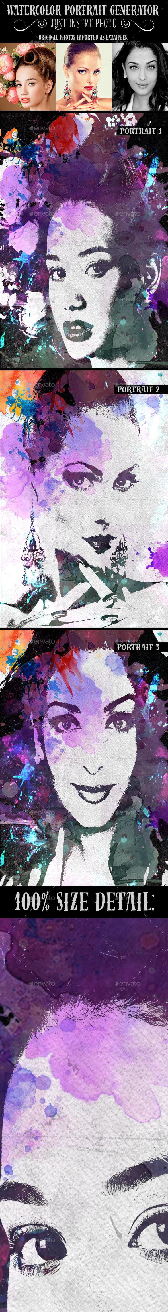 Watercolor Portrait Generator (Artistic)