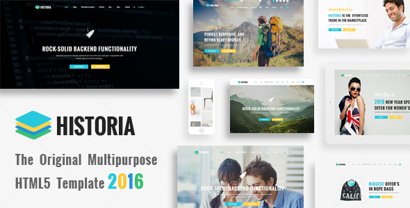 Historia – Responsive Multi-Purpose HTML Template (Corporate) Download