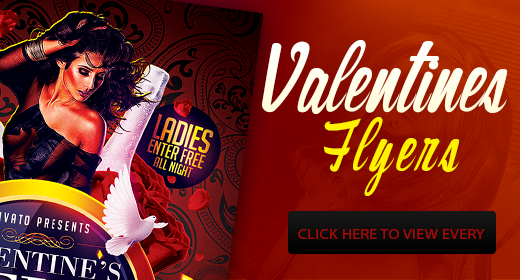 Valentines Flyers Template PSD