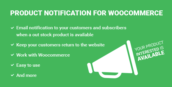 Notify Me! Product Notification for WooCommerce (Products) Download