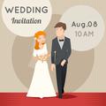 Bride and groom. template wedding invitation