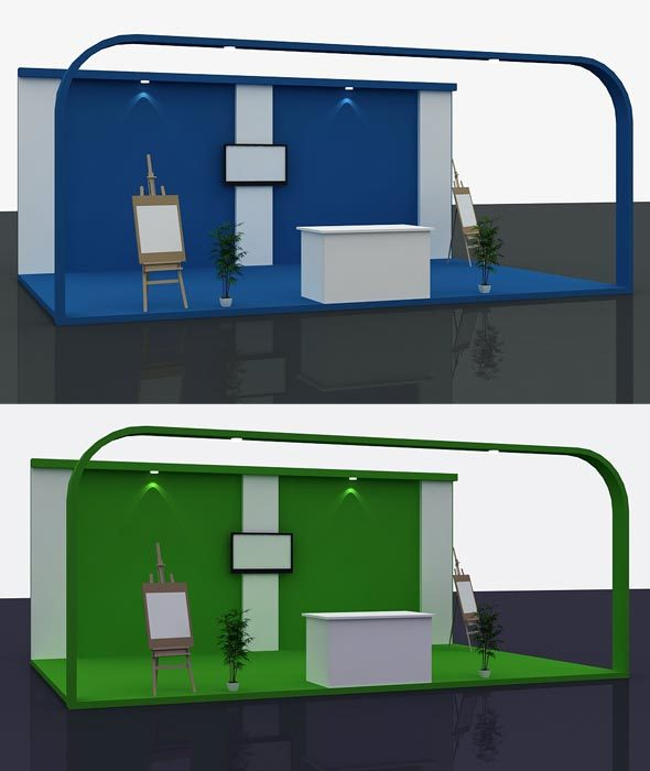 Stall Design 3d Model 1 - 3DOcean Item for Sale