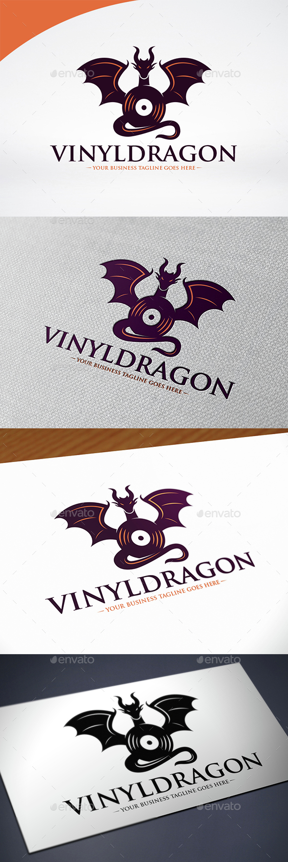 Dragon Music Logo Template