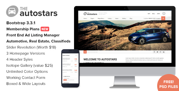6 - Auto Stars - Car Dealership & Listings WP Theme