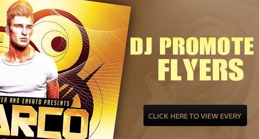 DJ Promote Flyers Template PSD