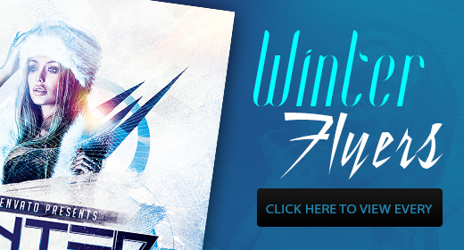 Winter Flyers Template PSD