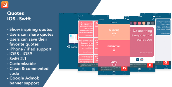 Quotes - iOS Swift App - CodeCanyon Item for Sale