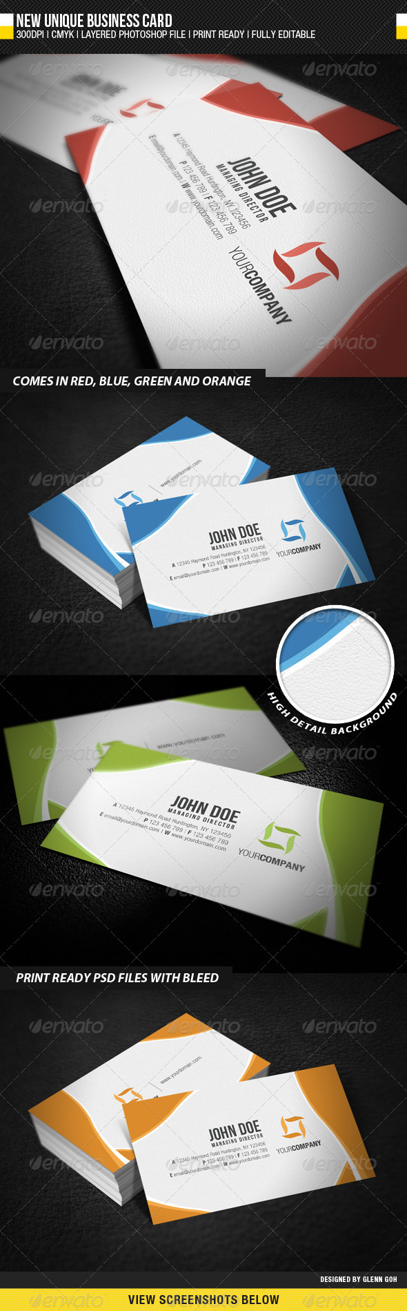 New Unique Business Card - Corporate Business Cards