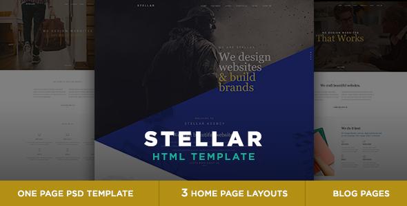 Stellar - One page multipurpose html template