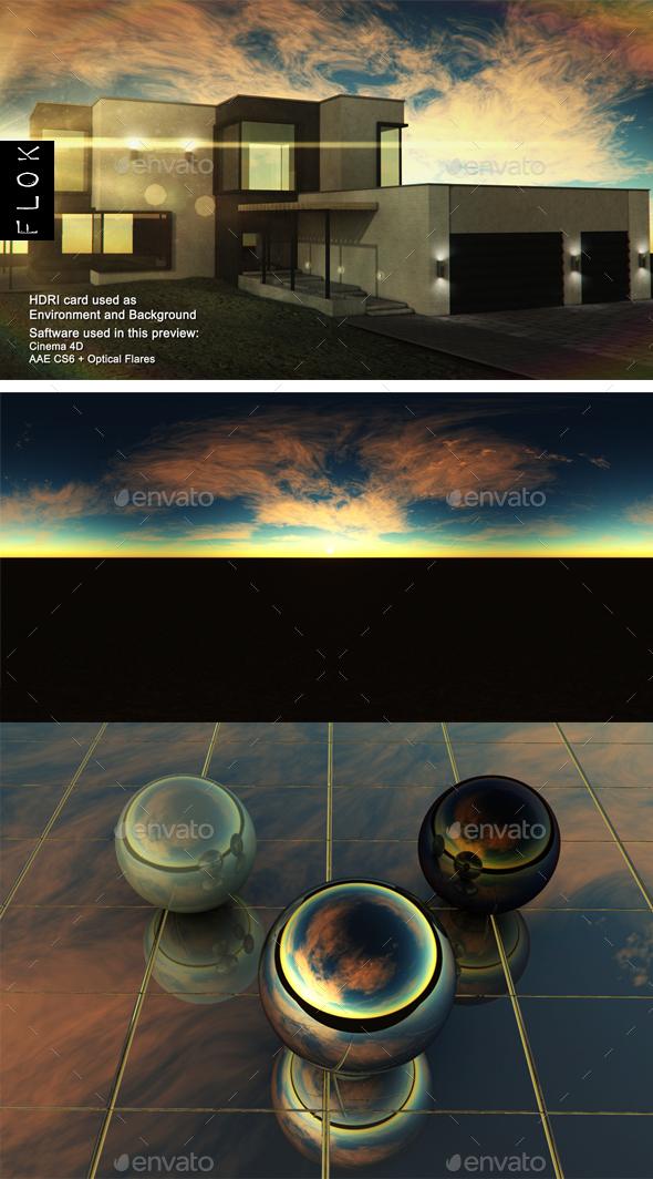 Sunset Desert 43 - 3DOcean Item for Sale