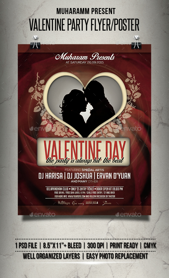 Valentine Party Flyer / Poster