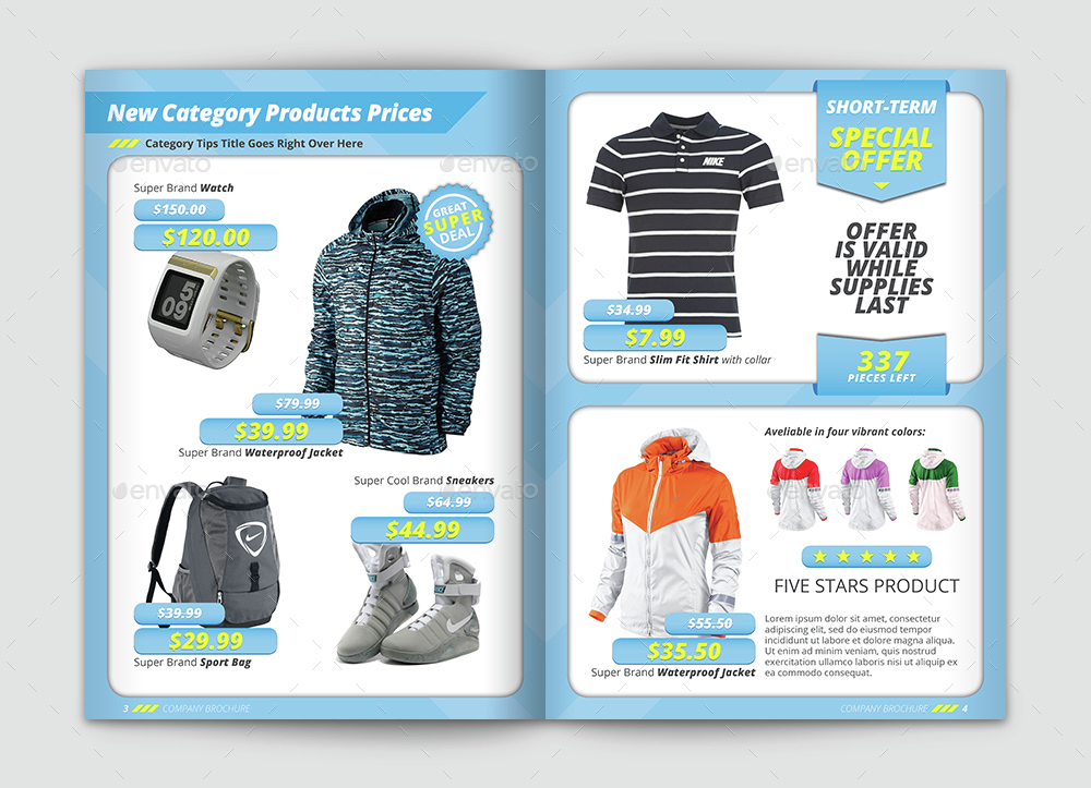 Product catalog brochure selling prices template by vlmr for Price list brochure template