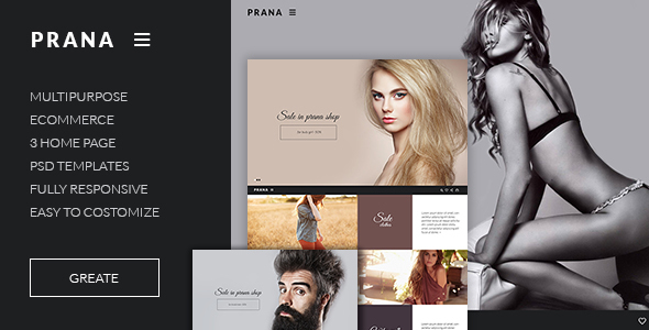 Prana – Ecommerce HTML template (Fashion) Download