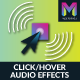Click/Hover Audio Effects Widget by Muse For You