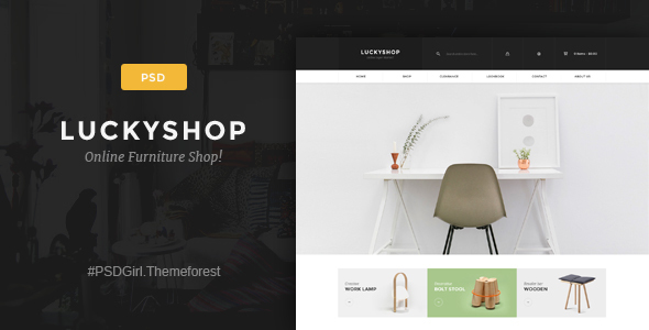 LuckyShop – Multi-Purpose PSD Template (Shopping) images