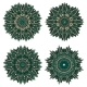 Circular Floral Patterns Of Emerald Lace Flowers