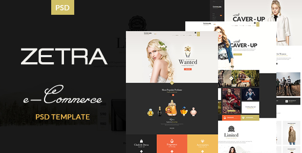 Zetra – eCommerce PSD Template (Retail) images