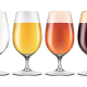 Elegant Craft Beer Glass in Four Versions.