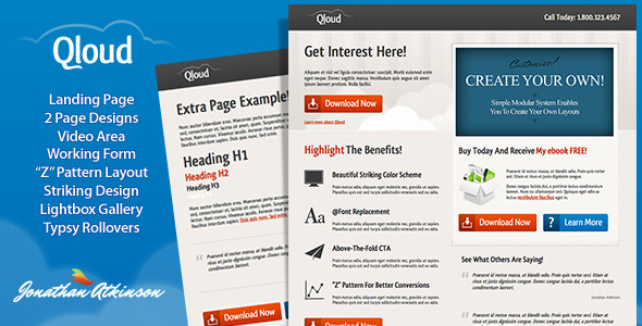 ThemeForest Qloud Landing Page 172749