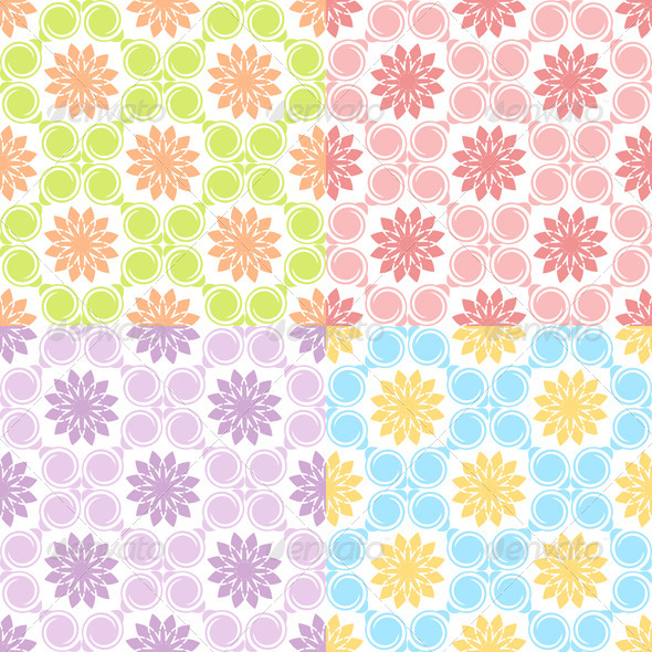 Set of Four Seamless Patterns. - Patterns Decorative