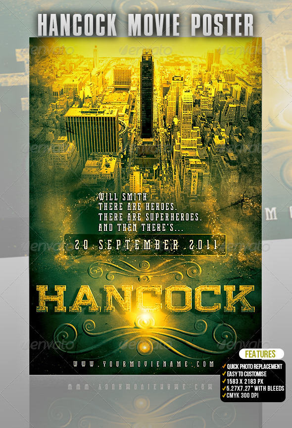 GraphicRiver Hancock Movie Poster 502437