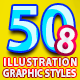 50 Illustrator Graphic Styles Bundle Vol.8