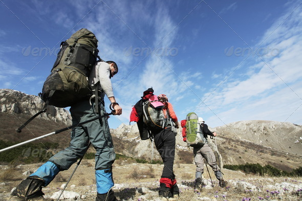 People in the hike - Stock Photo - Images
