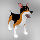 Semi-realistic cute dog model