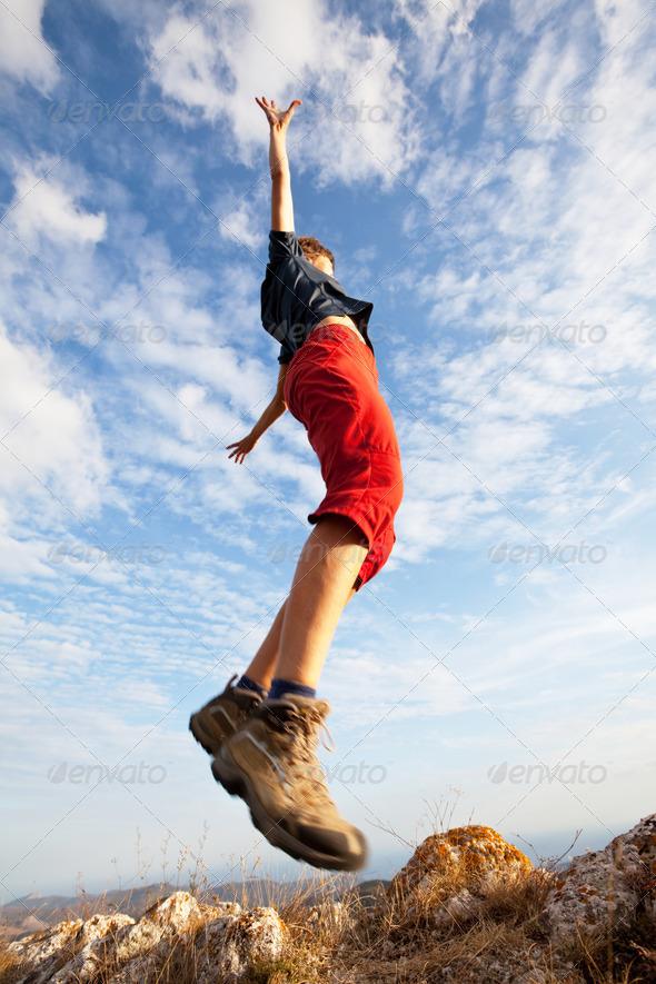 PhotoDune Jumping girl 1493912