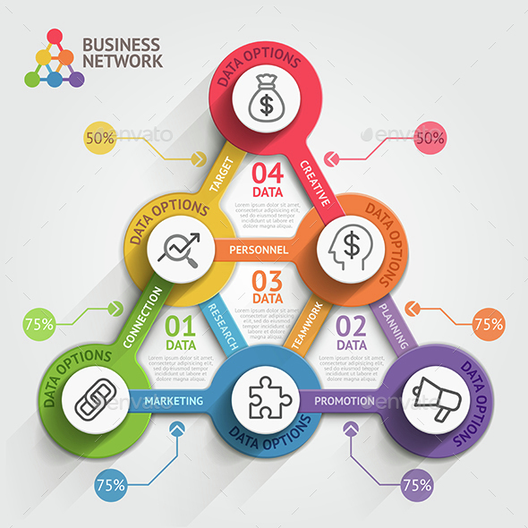Business Marketing Infographics Template.