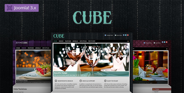 Image of JSN Cube - Joomla Fashion Responsive Template