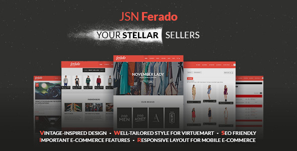 Image of JSN Ferado - Stellar Joomla! e-Commerce Templates
