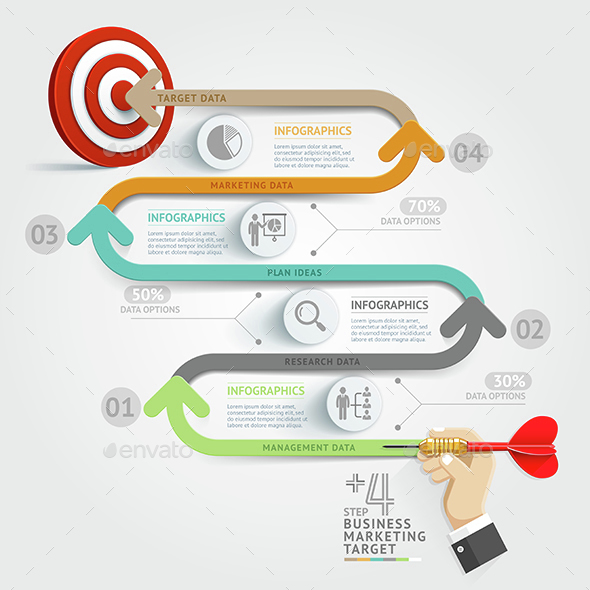 Business Target Marketing Dart Idea.