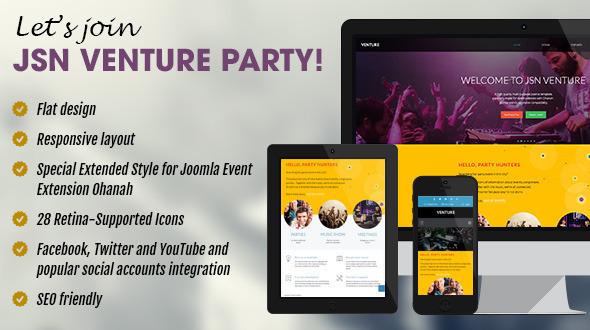 JSN Venture - Responsive Joomla Event Template