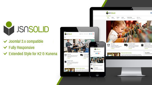 preview.  large preview - JSN Solid - Responsive Joomla Education Template