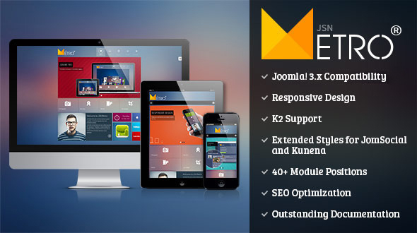 preview.  large preview - JSN Metro - Responsive Joomla Creative Template