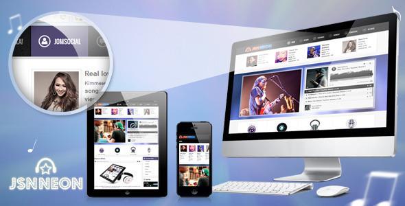 Image of JSN Neon - Joomla Music Theme & JomSocial support