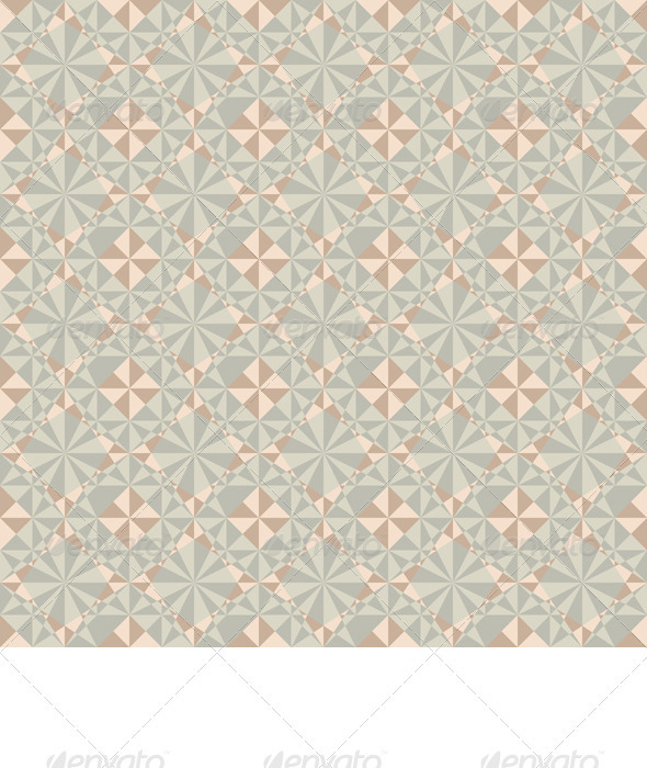 Vector Seamless Pastel Geometric Pattern - Backgrounds Decorative