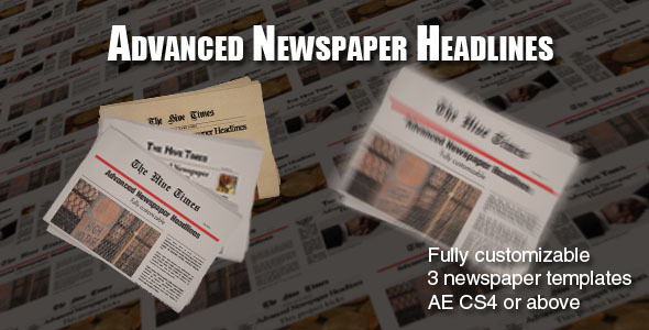 Advanced Newspaper Headlines