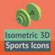 20 Isometric Sports Icons