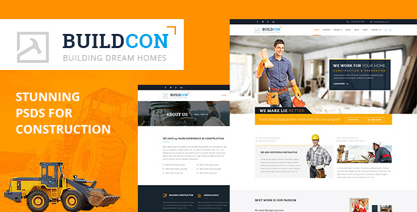 Buildcon PSD Template (Creative) images